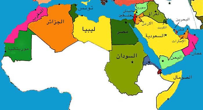 المعطيات الجغرافية للعالم العربي والاسلامي