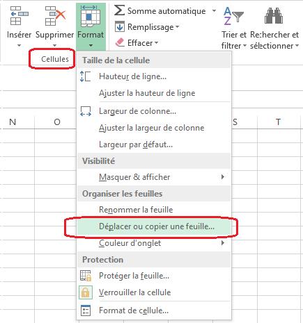 Excel:Gestion de feuilles de calcul