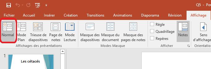 Modifier la taille de vos diapositives