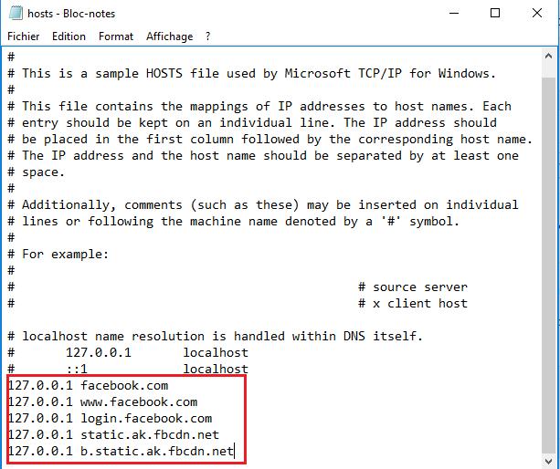 Comment bloquer l'accès a Facebook sur une poste