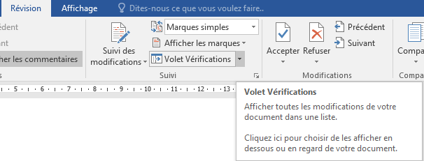 g u00e9rer les modifications dans word 2013