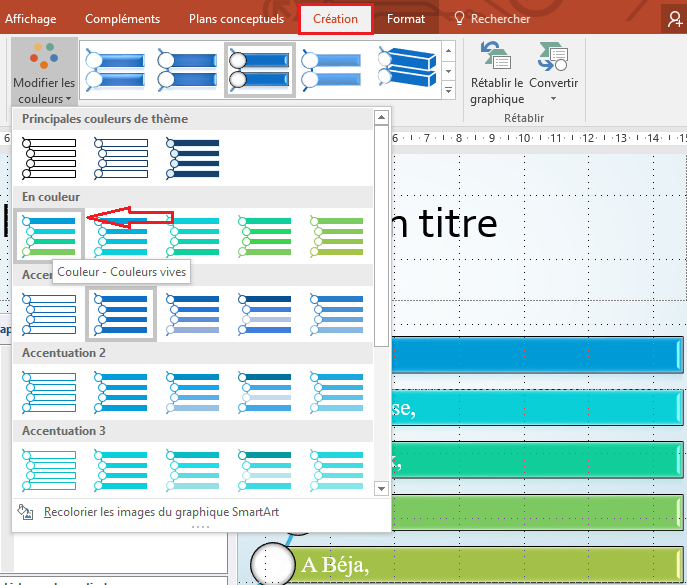 couleur smartart powerpoint