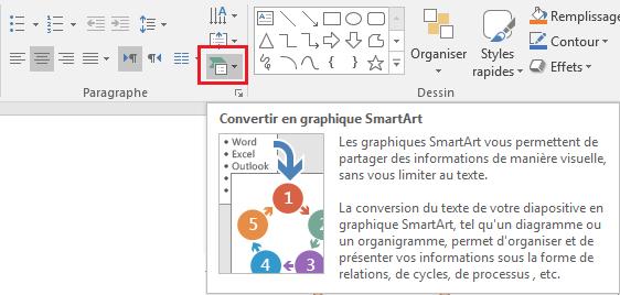 Convertir du WordArt en SmartArt
