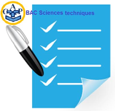 Sujets BAC Sciences techniques