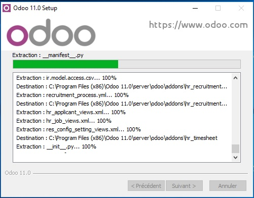 Installer Odoo sur Windows