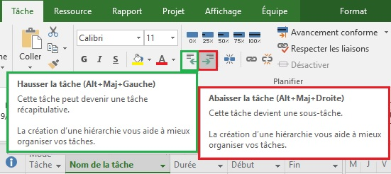 Ms Project : démarche de construction du planning