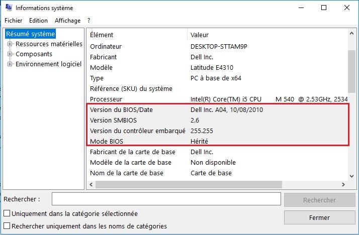 Mettre à jour le BIOS de votre PC