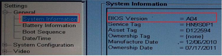 Connaître la version de votre BIOS