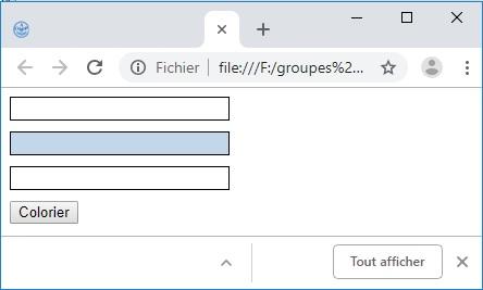 L'accès aux éléments HTML en Javascript