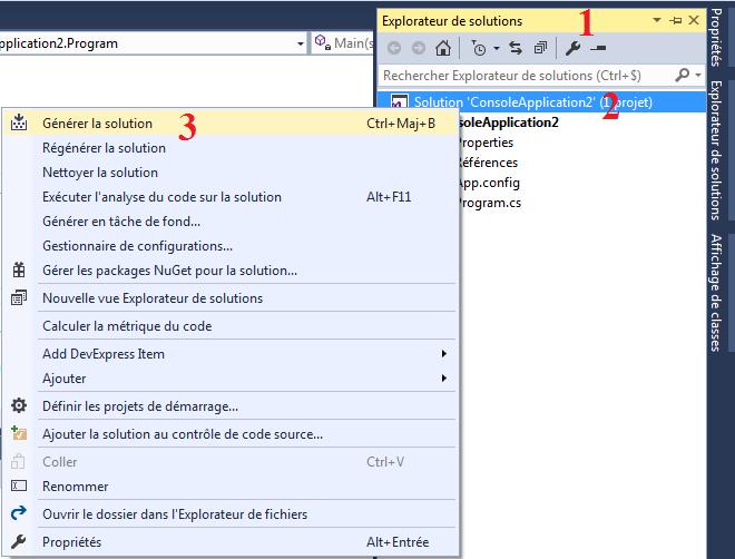 C# : Exécuter un programme en mode console