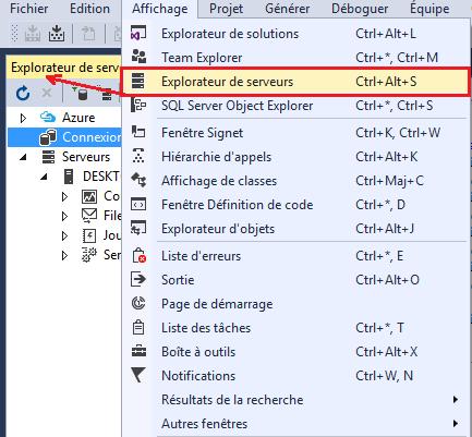 Visual Studio: L'explorateur de serveurs