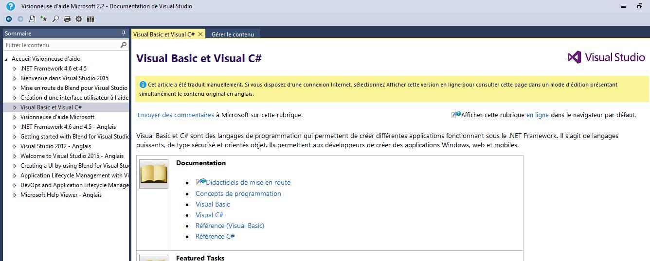 Visual Studio: L'aide dynamique