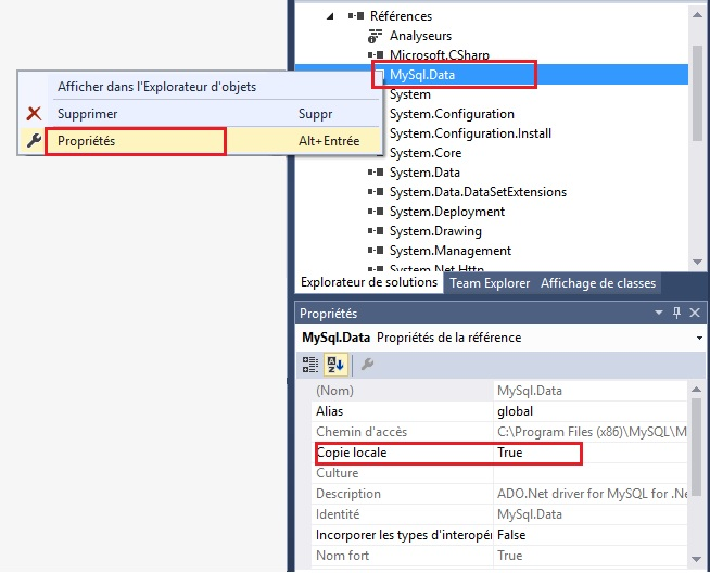 Connexion d'une table MySql à un contrôle DataGridView en C #