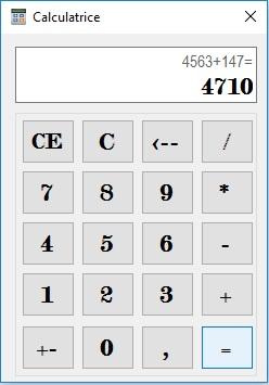 Mini-Projet de programmation Calculatrice Simple