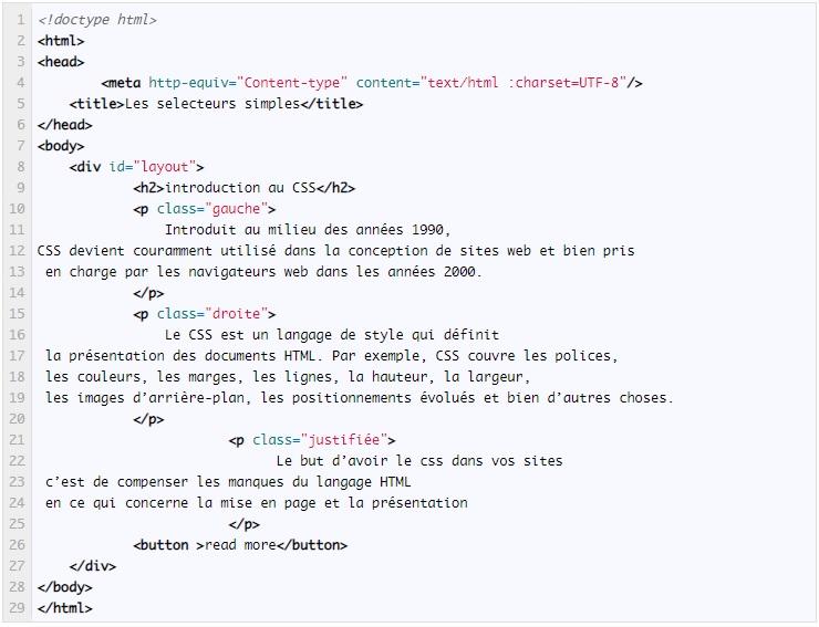 CSS TP Sélecteurs simples