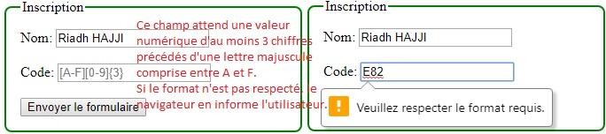 La validation de formulaire avec HTML5