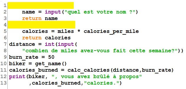 Exercices Fonctions python