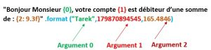 Formatage de chaîne Python