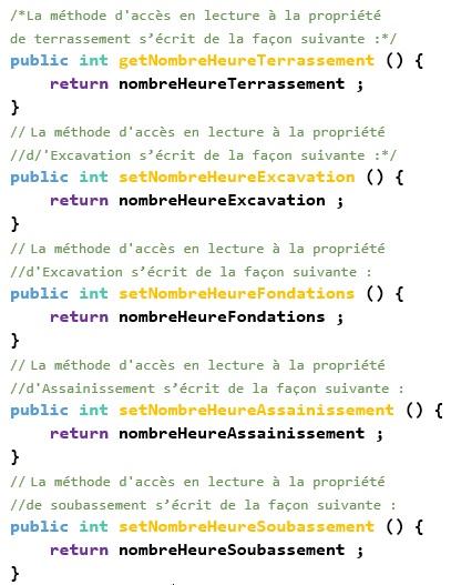 Exemple JavaBean calculer le NombreHeureDeTravail