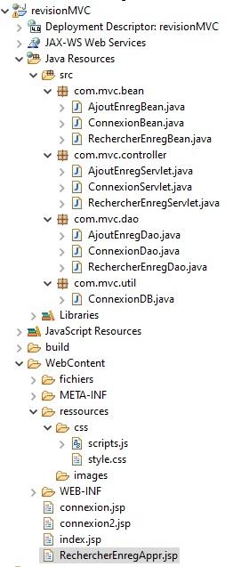 Recherche d'enregistrement utilisant MVC et MySQL