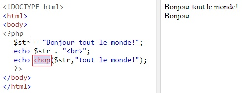 Les fonctions String en PHP