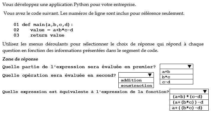 Exercices les types de données en Python
