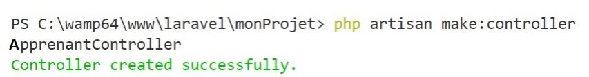 Créer et utiliser un contrôleur Laravel