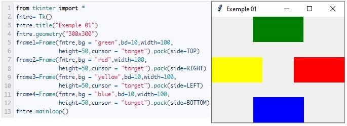 Python Tkinter Frame